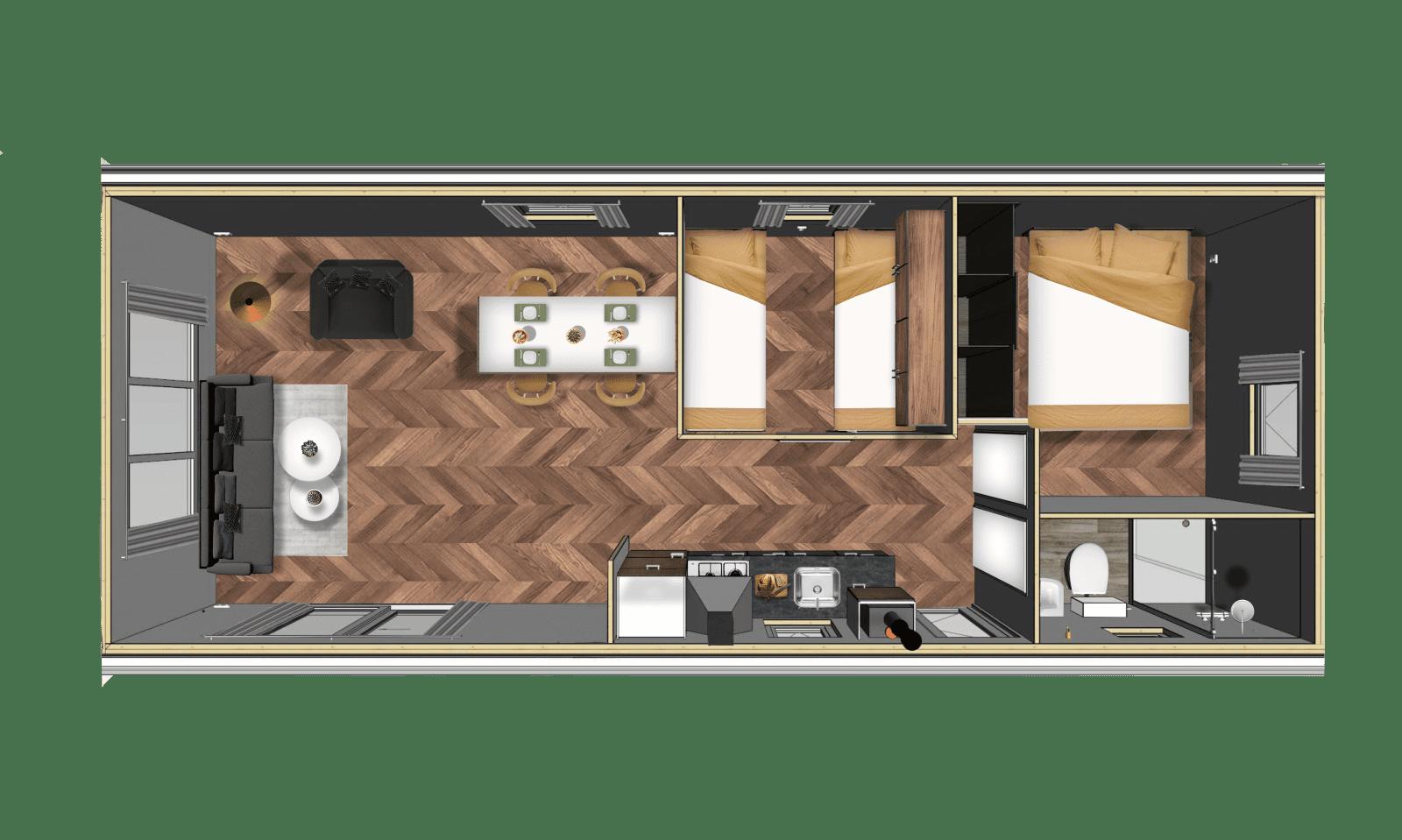 Chalet Basic XL 2.0 - Plattegrond