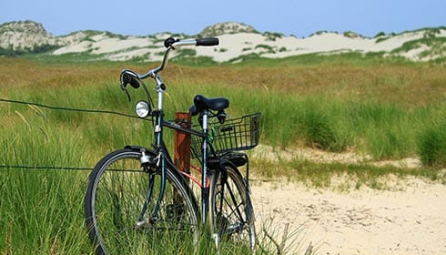 Mobilheim Basic XL 2.0 - Fiets in de duinen
