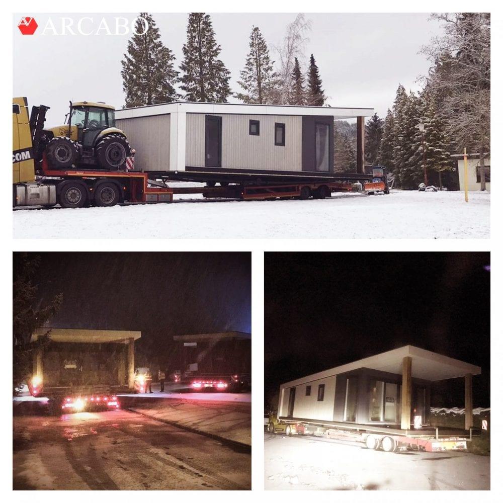 Transport door de sneeuw!